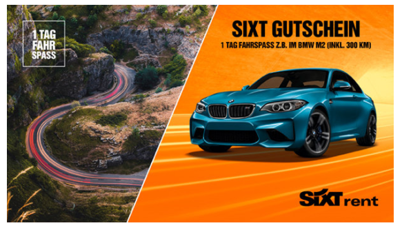 Sixt gift card design and art work