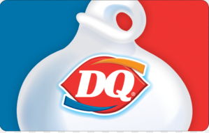 Dairy Queen gift card design and art work