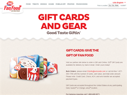 Dairy Queen gift card purchase