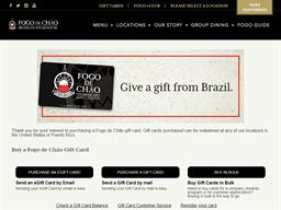 Fogo de Chao gift card purchase