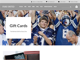 Fans United gift card purchase