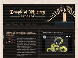Temple Of Mystery Records shopping