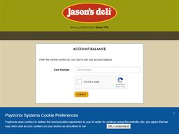 Jasons Deli gift card balance check