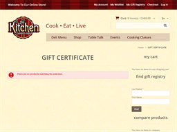 The Kitchen Cupboard and Icebox gift card purchase