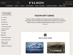 Filson gift card balance check