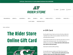 The Rider Store gift card purchase