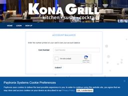Kona Grill gift card balance check