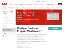 Westpac Prepaid gift card purchase