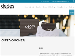 Dedes Waterfront Group gift card purchase