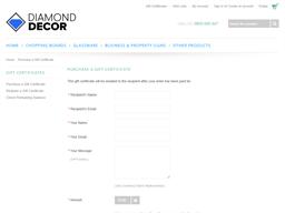 Diamond Decor gift card purchase