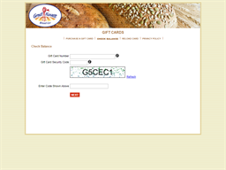Great Harvest Bread Co. Physical gift card balance check