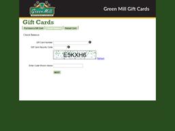 Green Mill Restaurant and Bar gift card balance check