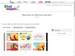 Fruit Bouquets gift card purchase