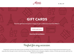 Mimis Cafe gift card purchase