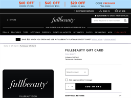 Fullbeauty gift card purchase