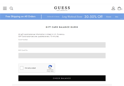 G by Guess gift card balance check
