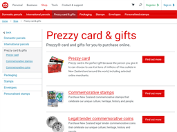 New Zealand Post Prezzy gift card purchase