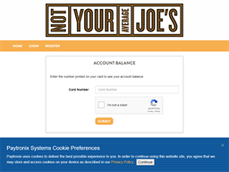 Not Your Average Joes gift card balance check