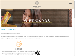 Galleria at Sunset gift card purchase