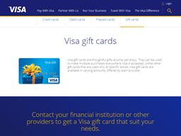 Visa gift card purchase