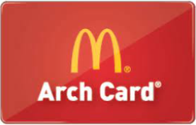 McDonald's Arch Card gift card design and art work