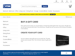 JYSK gift card purchase