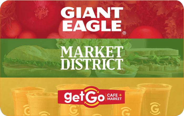 Giant Eagle gift card design and art work