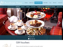 Burythorpe House gift card purchase