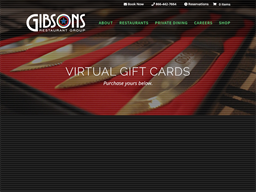 Gibson's Restaurant Group gift card purchase