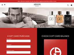 Giorgio Armani Fragrances & Beauty gift card balance check