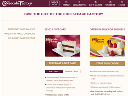 Cheesecake Factory gift card purchase