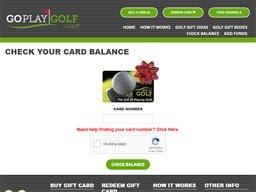 Go Play Golf gift card balance check