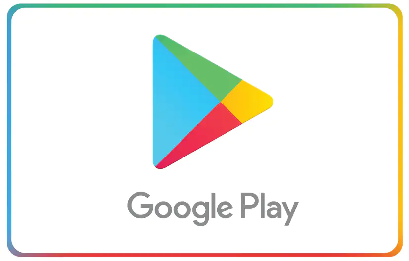Google Play gift card design and art work