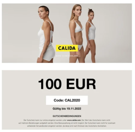 calida gift card design and art work