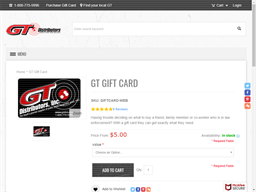 GT Distributors gift card purchase