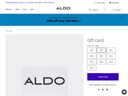 Aldo gift card balance check