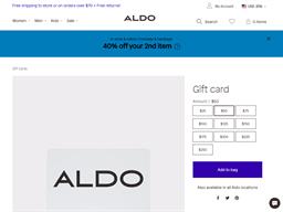Aldo gift card purchase