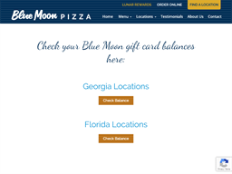 Blue Moon Pizza gift card balance check