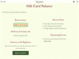 Big Jones gift card balance check