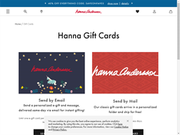 Hanna Andersson gift card purchase