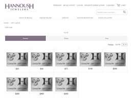 Hannoush Jewelers gift card purchase