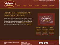 Harriet's Inn gift card purchase
