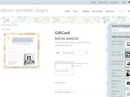 Obrien Shridde Designs gift card purchase