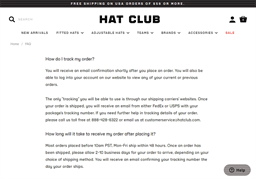 Hat Club gift card purchase