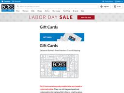 Bobs Stores gift card balance check