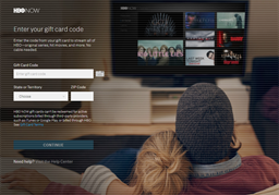 HBO NOW gift card balance check