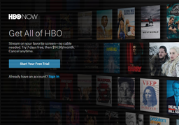 HBO NOW shopping