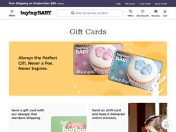 Buy Buy Baby gift card balance check