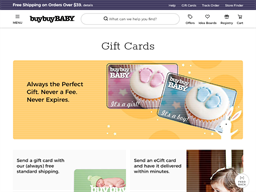 Buy Buy Baby gift card purchase