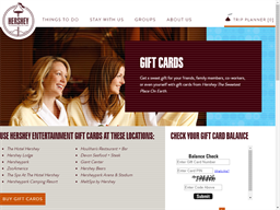 Hershey Entertainment & Resorts gift card purchase